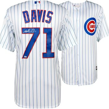 Wade Davis Signed Autographed Chicago Cubs Baseball Jersey (MLB Authenticated)