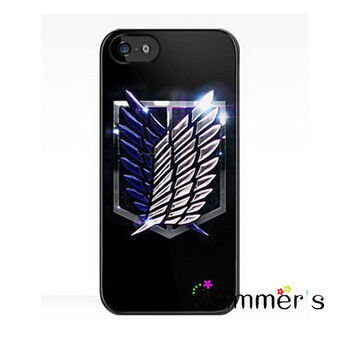 Japanese Anime Attack on Titan cellphone case cover for iphone 4s 5s 5c 6s plus Samsung Galaxy S3/4/5/6/edge+ Note2/3/4/5