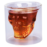 1pc Creative Wine glass cupTransparent Shot Glass Crystal Skull Shotglass cup 78ml HX-Y29438