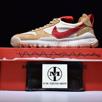Tom Sachs x NikeCraft Mars Yard 2. 0 Natural Sport Red Maple Men's Running Shoes Trainers