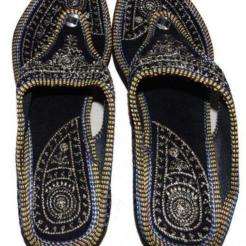 CREYONIA Rajasthani-Embroidered-Heel-Wedges-Ethnic-Fashion-Woman-Sandal-Slipper 8