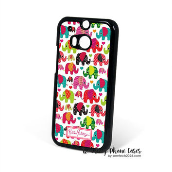 Elephant Kids-Lilly Pulitzer HTC One M8 Case Cover for M9 M8 One X Case