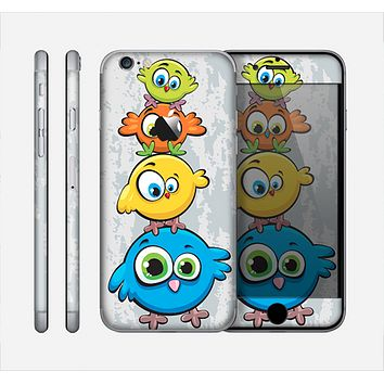 The Tower of Highlighted Cartoon Birds Skin for the Apple iPhone 6