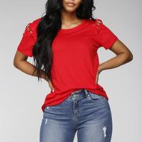 Not So Basic Tee - Red