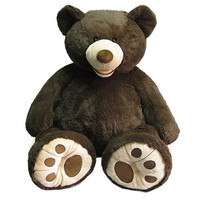 "53"" Sitting Plush Bear - Espresso"