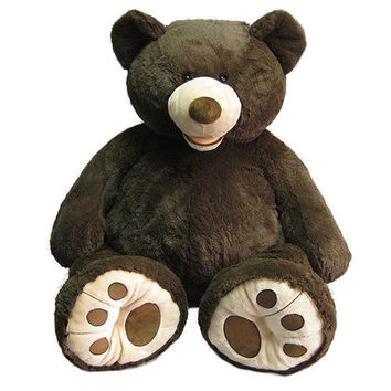 "53"" Sitting Espresso Plush Bear"