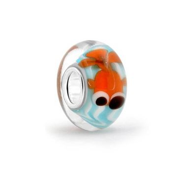Blue Fish Bowl Murano Glass 925 Sterling Silver Bead European Charm