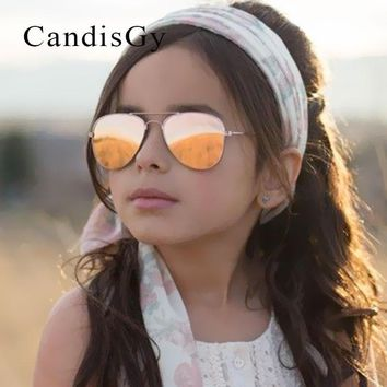 Kid Sunglasses Children Boys Girls Cute Mirror Baby Frame UV400 Mirror Pilot Fashion Eyewear Sun Glasses Small Size