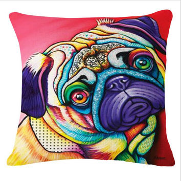 Doggy Face Printed Cushion Cover