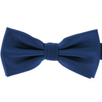 Tok Tok Designs Pre-Tied Bow Tie for Men & Teenagers (B3, Satin Navy Blue)