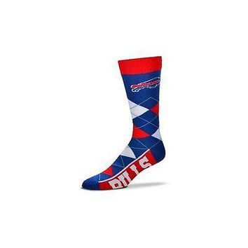 NFL Buffalo Bills Argyle Unisex Crew Cut Socks - One Size Fits Most
