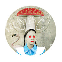 Alice in Wonderland, 1 inch circles, 1,5 inch circles, Digital Collage Sheet, Download and Print, Jpeg, 007