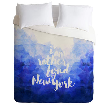 Hello Sayang I Am Rather Fond of New York Duvet Cover