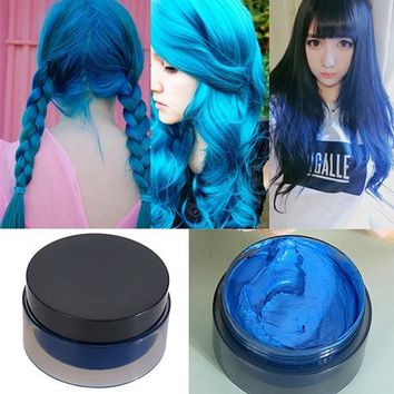 Hot item! 100ml Women's Fashion Hair Tool Hair Modeling Temporary Hair Dye Cream Wax Mud