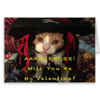 Valentine's Day - Aarrr, Will You be My Valentine? Greeting Card