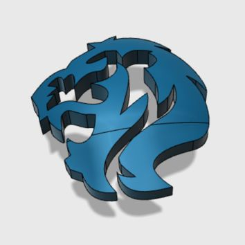 60x Roaring Lions : Shoulder Insignia pack by matt_sweitzer on Shapeways
