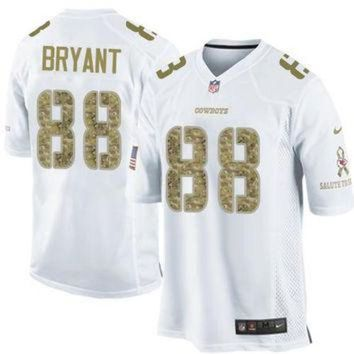DCCKU3N Nike Cowboys #88 Dez Bryant White Men's Stitched NFL Limited Salute to Service Jersey