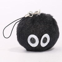 2016 My Neighbor TOTORO Spirited Away Licensed SOOT SPRITE PLUSH Dust Bunny Ghibli 2 Kawaii Kids Stuffed Toys For Children Dolls