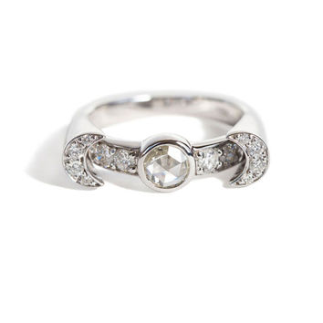 Pamela Love Fine - Diamond Luna Ring | BONA DRAG