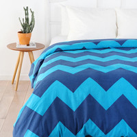 Urban Outfitters - Tonal Zigzag Duvet Cover