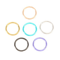 Multi-Color Seamless Nose Hoop 6 Pack