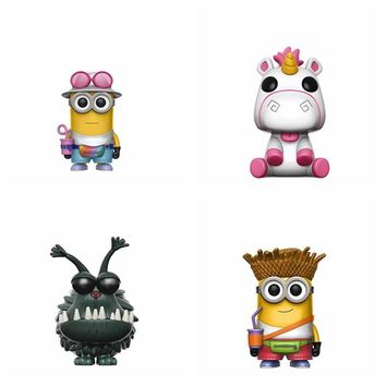 10cm Minions Fluffy Unicorn Kyle Dog Action Figures For Kids Gifts no color box