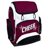 Cheerleader Weekender Tri-Color Backpack with 2 Color CHEER and Stars