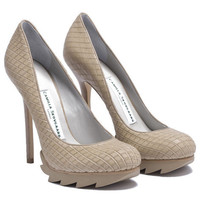 Camilla Skovgaard - Saw Sole Pump-Dust Tan | DOLL BOUTIQUE