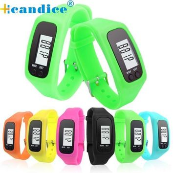 Splendid Electronic Watch Digital LCD Pedometer Run Step Walking Distance Calorie Counter Watch Bracelet Reloj Mujer
