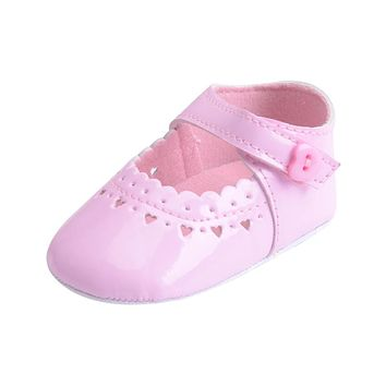 Newborn Baby Shoes Toddler Infant Boy Girls Heart Pattern PU Soft Sole Cute Solid Crib Summer Moccasin