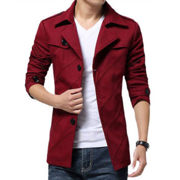 Men Large Size Jackets and Coats Men's Casual Slim Fit Parkas Overcoats Windbreakers Jackets BL
