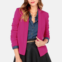 All In a Day's Work Magenta Blazer
