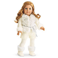 American Girl® Clothing: Winter White Outfit for Dolls + Charm