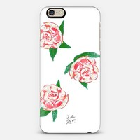 Peonies iPhone 6 case by Little Love Press | Casetify