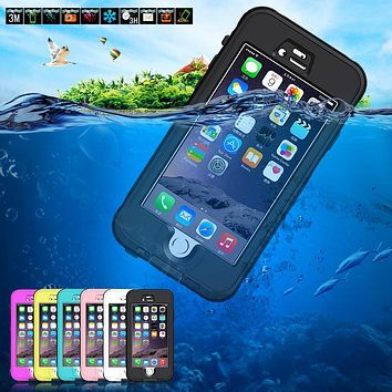 "Waterproof Case Fingerprint Touch Diving Underwater Shockproof Protective for Apple iPhone 6 6s 4.7 ""phone case Watertight Cover"