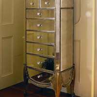 Claire Mirrored Jewelry Armoire