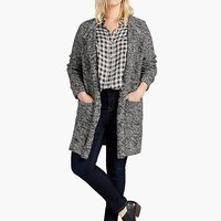 Lucky Brand Marled Waterfall Cardigan Womens