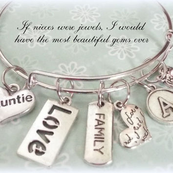 Gift for Aunt, Valentine for Aunt, Personalized Jewelry, Initial Jewelry, Gifts for Her, Birthday for Her, Personalized Gift