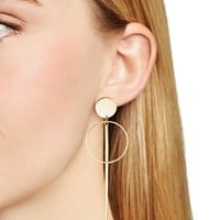 Argento VivoDisc, Circle and Bar Drop Earrings