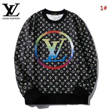 LV Louis Vuitton New fashion monogram print couple long sleeve top sweater 1#