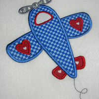 Valentines Airplane Boys Applique Shirt or Bodysuit
