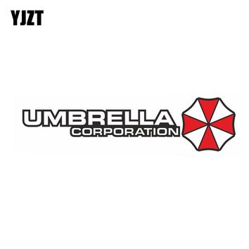 YJZT 20x5CM UMBRELLA Fashion Resident Evil Retro-reflective Car Sticker Decals C1-8009