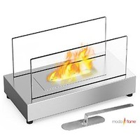 Moda Flame Vigo Table Top Ethanol Fireplace Stainless Steel