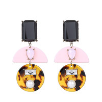 Geometric Acrylic Pearls Earring Earrings [6047542849]