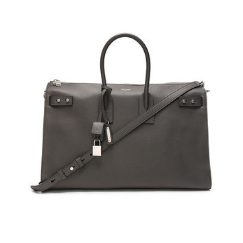Saint Laurent Medium Zipped Supple Sac de Jour Duffel Bag in Asphalt | FWRD