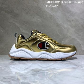 DCCK C030 Champion x Casbia Awol Atlanta Leather Sneaker Ratro Casual Running Shoes Gold