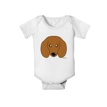 Cute Doxie Dachshund Dog Baby Romper Bodysuit by TooLoud