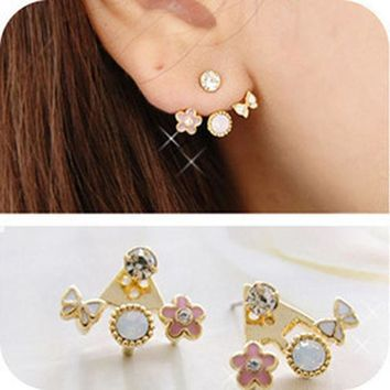LMFON Floral Lovely Butterfly Diamonds Hot Sale Earrings [10417791956]