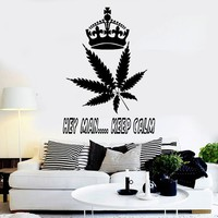 """Hey Man"" Cannabis Vinyl Wall Sticker"