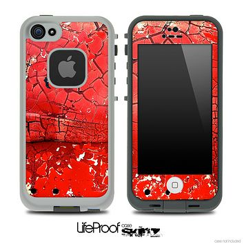 Cracked Red Paint Skin for the iPhone 5 or 4/4s LifeProof Case
